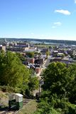 Άποψη Dubuque Αϊόβα Στοκ Εικόνα
