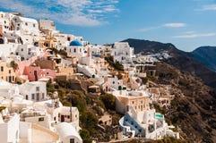 Άποψη Fira, Santorini Στοκ Φωτογραφίες