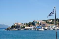 Άποψη Fiscardo, Kefalonia Ελλάδα Στοκ Φωτογραφία