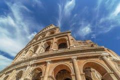Άποψη Fisheye έξω από το Colosseum, Ρώμη, Ιταλία στοκ φωτογραφία