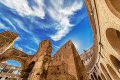 Άποψη Fisheye μέσα στο Colosseum, Ρώμη, Ιταλία στοκ φωτογραφίες