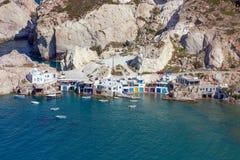 Άποψη Fyropotamos, νησί της Μήλου, Κυκλάδες, Ελλάδα Στοκ φωτογραφία με δικαίωμα ελεύθερης χρήσης