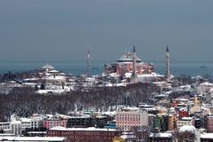 Άποψη Hagia Sophia Ä°stanbul από τον πύργο Galata Στοκ εικόνα με δικαίωμα ελεύθερης χρήσης