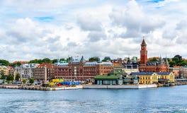 Άποψη Helsingborg του κέντρου της πόλης - Σουηδία Στοκ Εικόνες