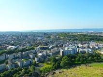Άποψη Hill της πόλης του Εδιμβούργου στη Σκωτία Στοκ Φωτογραφίες