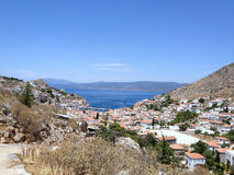 Άποψη Hydra Ελλάδα Στοκ φωτογραφία με δικαίωμα ελεύθερης χρήσης