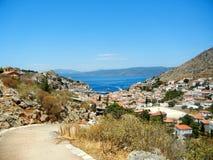 Άποψη Hydra Ελλάδα Στοκ εικόνα με δικαίωμα ελεύθερης χρήσης