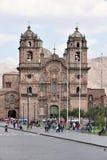 Άποψη Iglesia de Λα Compania de Ιησούς σε Cusco Στοκ Εικόνες