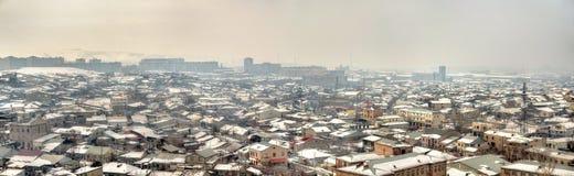 Άποψη Jerevan από το φρούριο Erebuni Στοκ Εικόνες