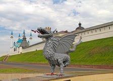 Άποψη Kazan Κρεμλίνο στοκ φωτογραφία με δικαίωμα ελεύθερης χρήσης