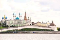 Άποψη Kazan Κρεμλίνο Στοκ εικόνα με δικαίωμα ελεύθερης χρήσης