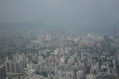 Άποψη Kowloon από το διεθνή κεντρικό ουρανοξύστη εμπορίου - Στοκ Φωτογραφία