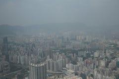 Άποψη Kowloon από το διεθνή κεντρικό ουρανοξύστη εμπορίου - Στοκ φωτογραφία με δικαίωμα ελεύθερης χρήσης