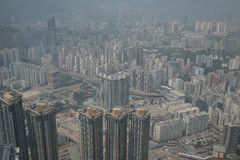 Άποψη Kowloon από το διεθνή κεντρικό ουρανοξύστη εμπορίου - Στοκ Φωτογραφίες
