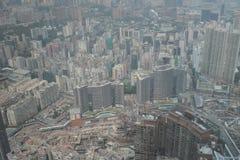 Άποψη Kowloon από το διεθνή κεντρικό ουρανοξύστη εμπορίου - Στοκ Εικόνα