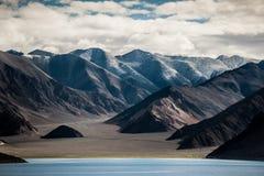 Άποψη lagakh Ινδία λιμνών Pankong Στοκ φωτογραφία με δικαίωμα ελεύθερης χρήσης