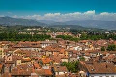 Άποψη Lucca της πόλης, Ιταλία Στοκ Εικόνα