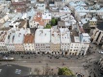 Άποψη Lviv στοκ εικόνα με δικαίωμα ελεύθερης χρήσης