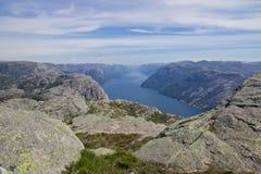 Άποψη 050 Lysefjord Στοκ Εικόνες
