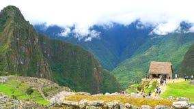 Άποψη Machu Picchu στη βρέχοντας ημέρα φιλμ μικρού μήκους
