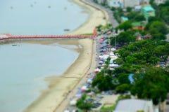 Άποψη Manao AO σε Prachuap Khiri Khan Στοκ Φωτογραφίες