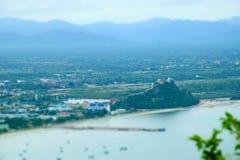Άποψη Manao AO σε Prachuap Khiri Khan Στοκ Εικόνα
