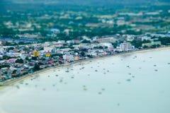Άποψη Manao AO σε Prachuap Khiri Khan Στοκ Φωτογραφία