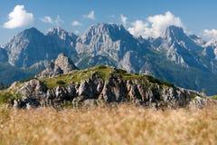 Άποψη Monte σιδηρο, Passo Sesis, Άλπεις Carnic, δολομίτες, Ιταλία στοκ φωτογραφίες με δικαίωμα ελεύθερης χρήσης