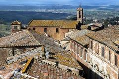 Άποψη Montepulciano από τον πύργο πόλεων Στοκ Εικόνες