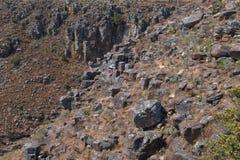 Άποψη Morro do Bimbe των βράχων σε Huila στοκ εικόνες με δικαίωμα ελεύθερης χρήσης