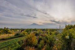 Άποψη Mout Ararat από την Αρμενία στοκ εικόνες