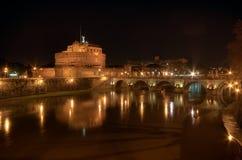 Άποψη OD Castle Sant'Angelo στη Ρώμη, Ιταλία Στοκ Φωτογραφίες