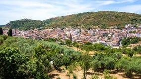 Άποψη Orani, μια μικρή σαρδηνιακή πόλη, Ιταλία Στοκ Φωτογραφίες