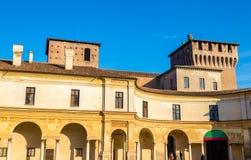 Άποψη Palazzo Ducale στην πλατεία Castello σε Mantua Στοκ Εικόνα