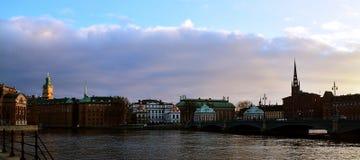 Άποψη Panoramatic πέρα από ένα κανάλι Στοκ εικόνα με δικαίωμα ελεύθερης χρήσης