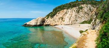 Άποψη Panoramatic στην παραλία Mikro Seitani στοκ φωτογραφία με δικαίωμα ελεύθερης χρήσης