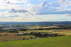Άποψη Panoramatic σχετικά με την πόλη Ceske Budejovice και Dubicne Στοκ φωτογραφίες με δικαίωμα ελεύθερης χρήσης
