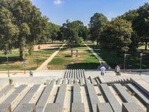 Άποψη Parc de Bercy, Παρίσι, μια ηλιόλουστη θερινή ημέρα στοκ εικόνες