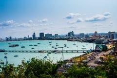 Άποψη Pattaya στο chonburi, Ταϊλάνδη Στοκ Εικόνα