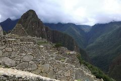 Άποψη Picchu Περού Machu Στοκ φωτογραφία με δικαίωμα ελεύθερης χρήσης