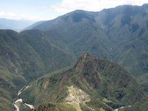 Άποψη Picchu Machu από το βουνό Machu Picchu Στοκ φωτογραφία με δικαίωμα ελεύθερης χρήσης