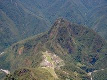 Άποψη Picchu Machu από το βουνό Machu Picchu Στοκ Εικόνες