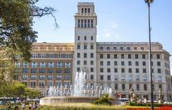 Άποψη Placa de Catalunya, Βαρκελώνη Στοκ φωτογραφία με δικαίωμα ελεύθερης χρήσης