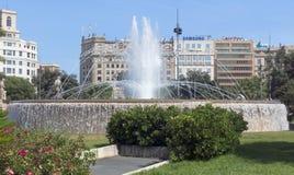 Άποψη Placa de Catalunya Στοκ φωτογραφίες με δικαίωμα ελεύθερης χρήσης