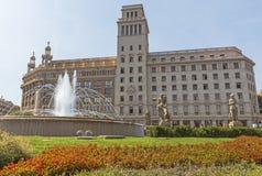 Άποψη Placa de Catalunya Στοκ φωτογραφία με δικαίωμα ελεύθερης χρήσης