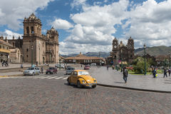 Άποψη Plaza de Armas σε Cusco Στοκ εικόνα με δικαίωμα ελεύθερης χρήσης