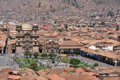 Άποψη Plaza de Armas Cusco, Περού Στοκ Εικόνες