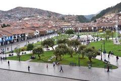 Άποψη Plaza de Armas Cusco, Περού Στοκ Εικόνα