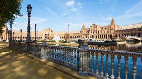 Άποψη Plaza de Espana με το φράκτη Στοκ Φωτογραφία