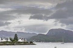 Άποψη Plockton lakefront Στοκ Εικόνες